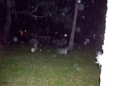 Ghost tour we went on in St. Augustine, FLA. Check out all the orbs!