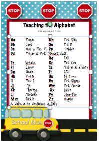 Teaching the Alphabet and phonics etc