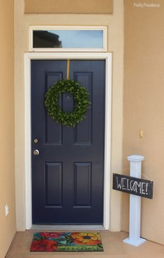 Modern Masters Front Door Paint in color Peaceful | Project by Pretty Providence and they are hosting a Giveaway! Deadline: August 17, 2014