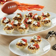 Game Day Taco Cups - The Pampered Chef® Need some inspiration for Super Bowl Sunday? Try these.