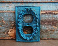 Dark Turquoise Ornate Outlet Cover Metal by turquoiserollerset, $8.00