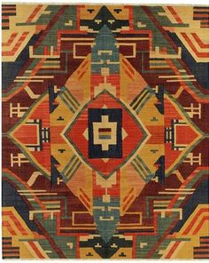 RugStudio presents Samad Sunrise Maya Flat-Woven Area Rug