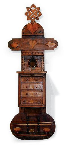 Wall Mounted Sewing Cabinet, late 19th century
