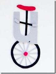 U is for Unicycle - fun crafts to go along with letters and sounds