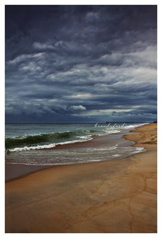 Stormy Beach Photo Moody Dark Stormy Weather by BitsofLifeImages, $30.00