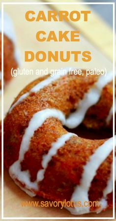 Carrot Cake Donuts (gluten and grain free, paleo)  #paleo #diet #recipes #food paleoaholic.com