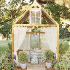 wood frame cabana