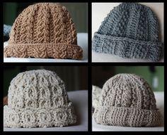 Thick Warm Crocheted Winter Hat free crochet pattern
