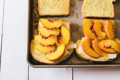 French Toast Sandwich with Peaches and Mozzarella