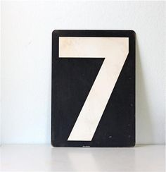 Lucky Number 7  (via Designspiration ) lucki number, envelopes, appliances, home inspection, dates, graphics, births, table numbers, heavens