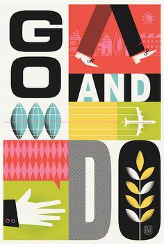 graphic design, color, art, poster, inspir, brad woodard, bradwoodard, illustr, print
