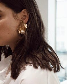 Statement gold earri