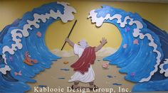 Moses Red Sea Craft | Kablooie Design Group Moses Parting the Red Sea