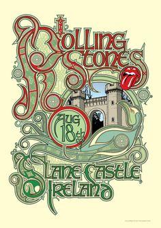 The Rolling Stones-concert poster, Ireland