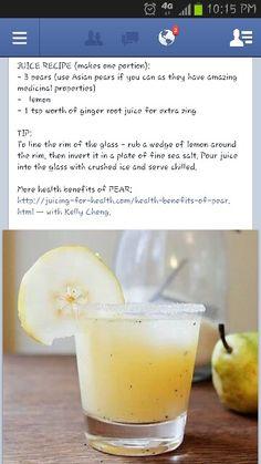 Asian pear summer juice