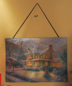 'Thomas Kinkade™ Fiber-Optic Bannerettes' is going up for auction at  7pm Fri, Sep 6 with a starting bid of $15.
