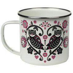 Folklore Enamel Mug #outdoor #scandichic #wildandwolf,perfect for a cuppa when gardening
