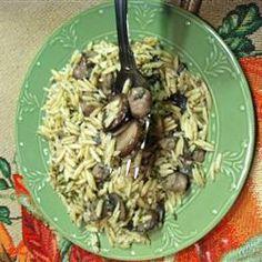 Orzo with Bacon, Mushrooms and Italian Seasonings   #AllstarsJville, #JvilleKitchens, #Fall. #myallrecipes