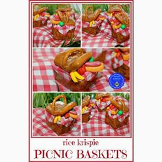 Rice Krispie Treat Picnic Baskets