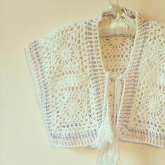 Bolero Crochet Arcadia. Tejido a mano.