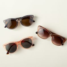 New eyewear: Pops of gold add a touch of sophistication.