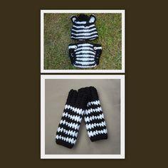 Fabulous ZEBRA Baby Beanie Crochet HAT  by MadebyCrochetFairy, £29.50