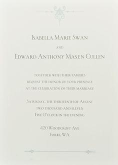 Breaking Dawn - Wedding Invitation
