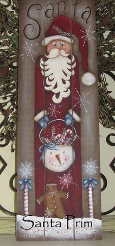 free images of primitive santa to paint | The Decorative Painting Store: Santa Prim, Newly Added Painting ...
