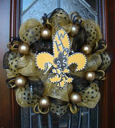 New Orleans Saints Who Dat Black and Gold by FreckleFaceCrafts, $55.00