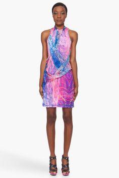 MCQ ALEXANDER MCQUEEN Fireworks Print Drape Dress
