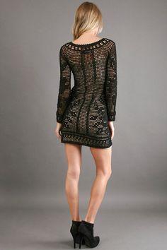 Vestido crochet dress filet