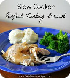 Recipe for Slow Cooker Perfectly Seasoned Turkey Breast #crockpot #turkey