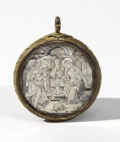 Double sided Pendant with the Annunciation and the Resurrection; Northern Italy, ca. late 15th century.