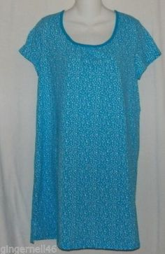 Gown Size Small Blue New w/ Tag Above Knee Simply Basic Night Gown free shipping