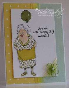Art Impressions AI 29 Again? set handmade birthday card.  Ai People.