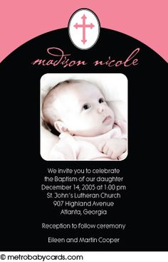 Photo Baptism/Christening Invitations :: Little One Pink Design