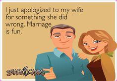 Marriage is fun!