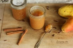 Vanilla Spice Pear Butter Recipe by Everyday Art #pear #recipe #harvest