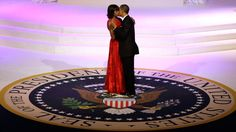 President Barack Obama and   First Lady Michelle Obama kiss as they dance during the Commander-In-Chief inaugural ball at the Washington Convention Center during the 57th Presidential Inauguration on Monday, Jan. 21, 2013 in Washington.