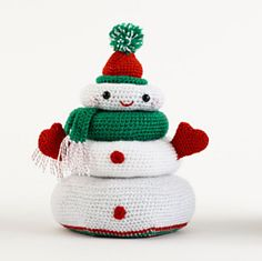 Free Crochet Holiday Stacking Toy Pattern