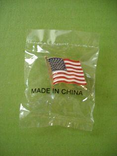 USA Flag Pin made In China!!!   :(