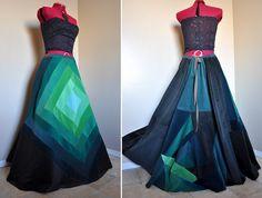 Beautiful corduroy patchwork skirt