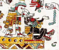 Codex Zouche-Nuttall - ritual nose-piercing