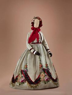 Day dress, mid-1860's From thecollection of Alexandre...