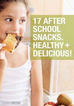 After school snacks can be healthy!