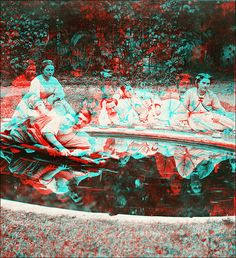 Tea in the Garden (anaglyph) BTW, get this new 3d app... visit: https://play.google.com/store/apps/details?id=com.JERASeng.illusions3DTube