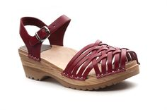 anna clog sandals_red_sidovy