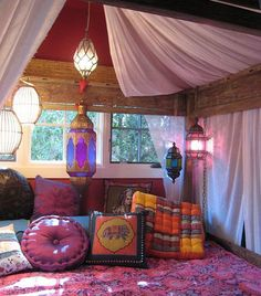 DIY Home Decor Ideas - Moroccan Theme - Click Pic for 47 Decor Ideas for Girls Rooms