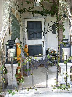 creepy halloween front porch