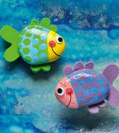 fish rock, cabin, crafts rocks, rock crafts, paint fish on rocks, stone crafts, rock animals, painted rock fish, paint rock